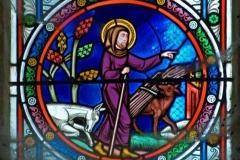 Vitrail Saint Psalmet Collégiale d'Eymoutiers